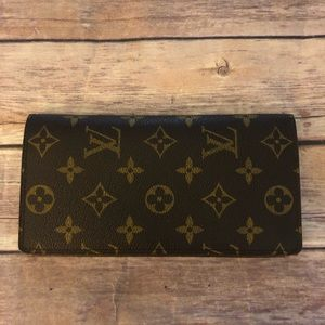 Louis Vuitton monogram Brazza long wallet